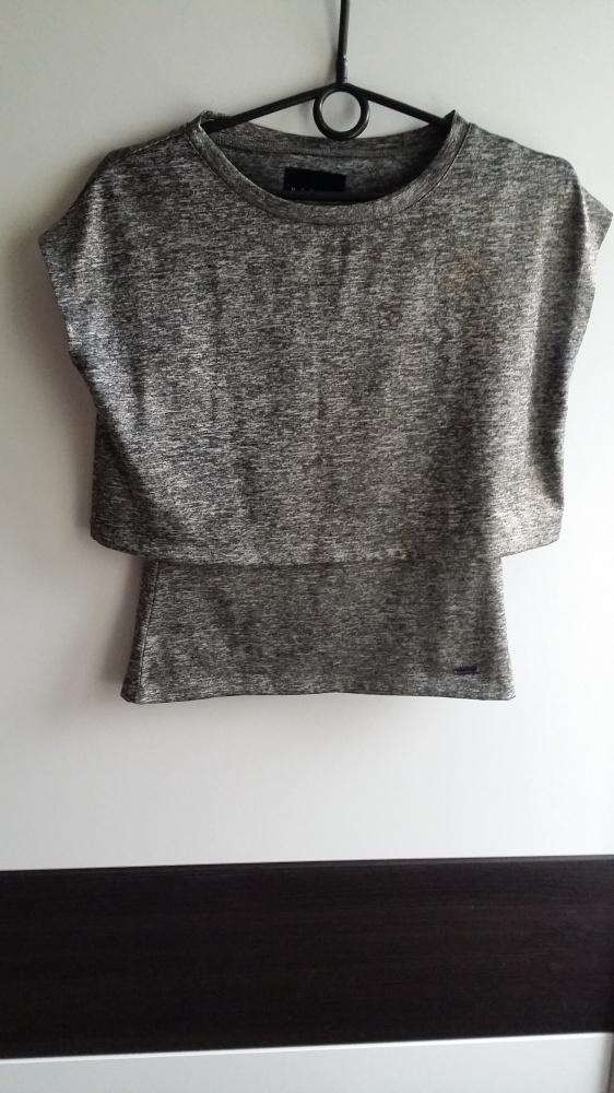 Nowa srebrna bluzka Mohito xS...