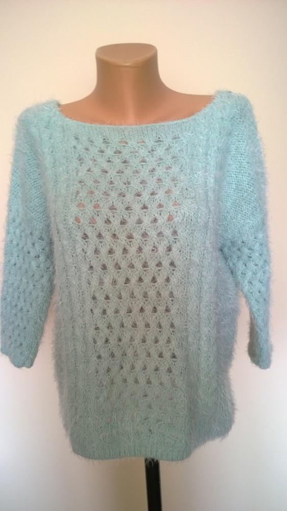 sweter włochaty 42