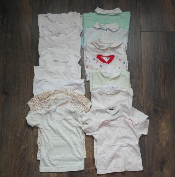 17 koszulek kaftaników dla noworodka