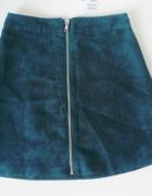 Nowa trapezowa spódniczka h&m zamsz zamek zip...