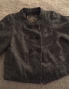 Guess krotki tweedowy płaszczyk dwurzędowy marynarka 36 38