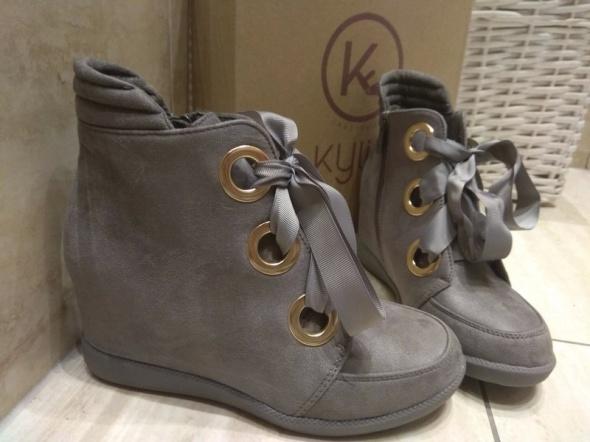 Szare sneakersy kylie