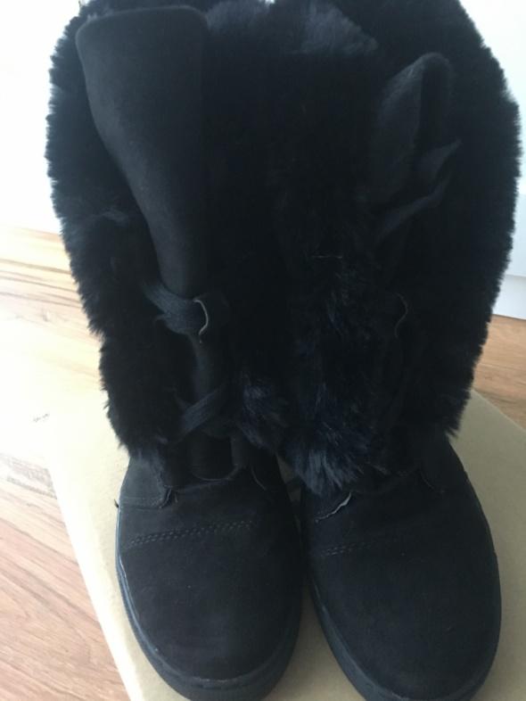 Zimowe koturny sneakersy z futerkiem 41 czarne