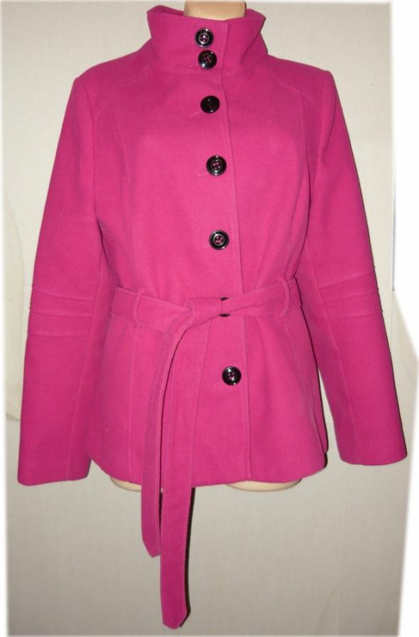 F&F krótszy płaszcz trencz zima cudny 44 46