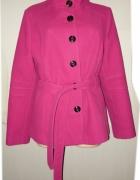 F&F krótszy płaszcz trencz zima cudny 44 46...