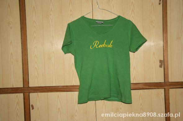 Bluzki Zielona bluzka Reebok