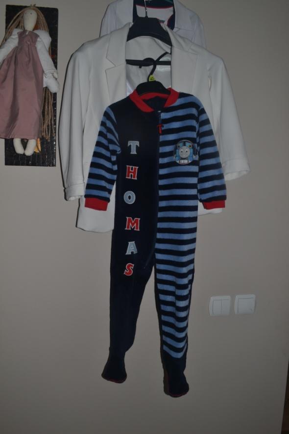 Piżamki Mini club pajacyk Thomas polarowy 3 4 lata 98cm 104cm