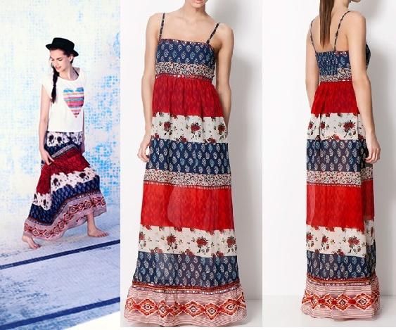 c22ebd2a0f BERSHKA maxi długa sukienka etno boho S M L NEW w Suknie i sukienki ...