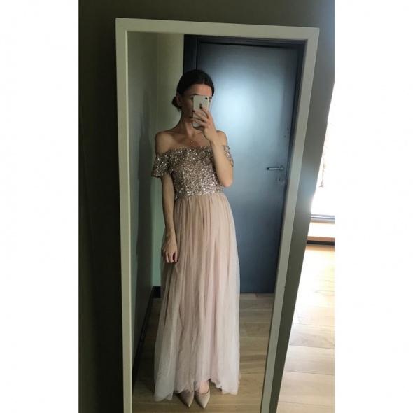 Sukienka Maya Asos zdobienie studniówka ślub M...