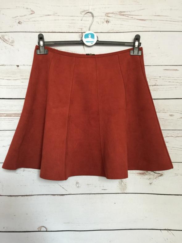 31b01c33db Spódnice Spódniczka spódnica ala zamsz zamszowa Amisu 36 S ruda zip  rozkloszowana