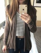 Wyprzedaż brązowy sweterek kardigan bershka...