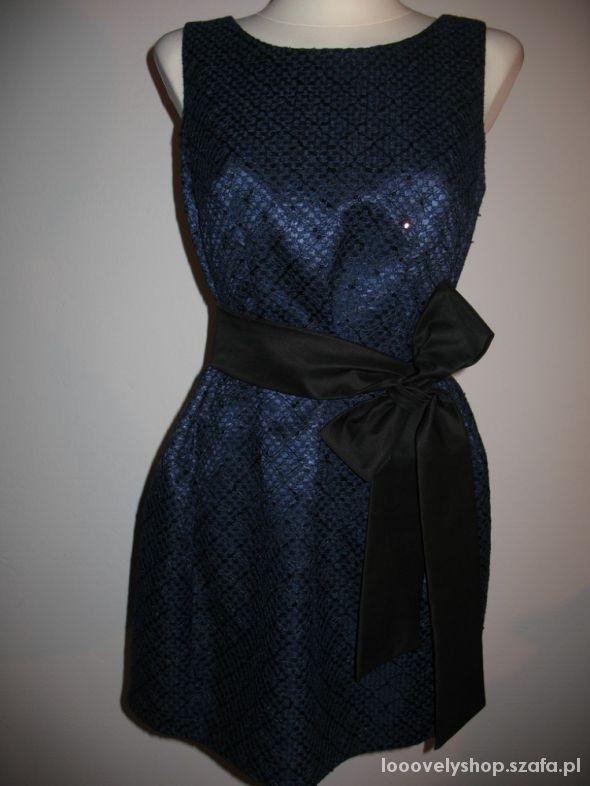 Nowa sukienka granat rozm 40