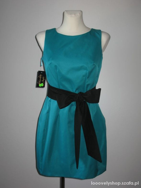 Nowa sukienka zieleń bombka rozm 38
