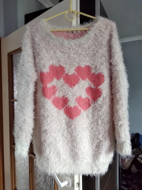 Włochaty sweterek roz 42 44 oversize