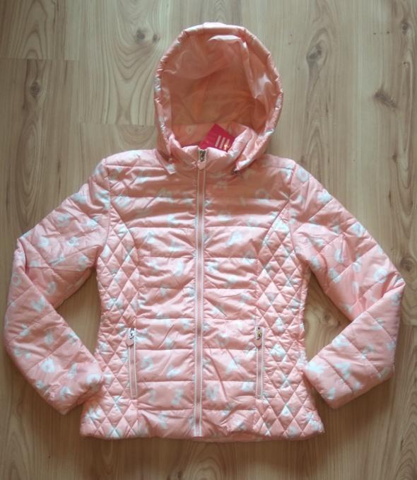Nowa jasno różowa kurtka wiosenna dziewczęca