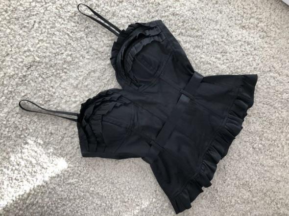 Tally Weijl gorset satyna sexy czarny S