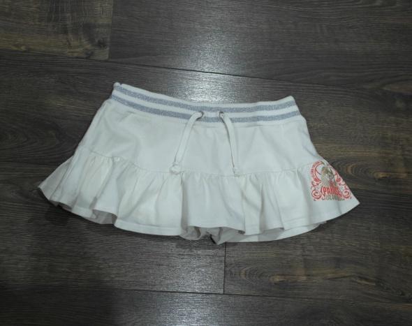 Białe spódniczko spodenki 158