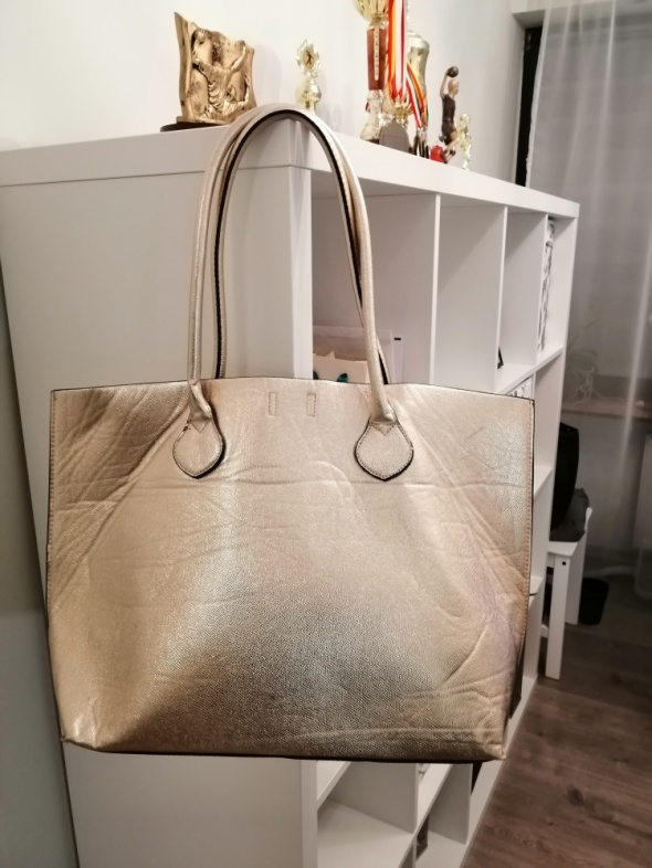 złota duża torebka H&M