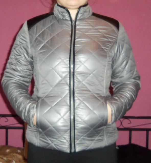 Wiosna świetna kurtka srebrna 38 M