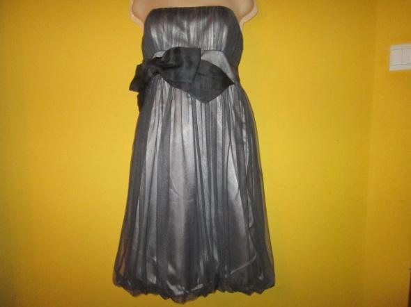 NOWA suknia kokarda tiul stalowy kolor rozmiar 40...