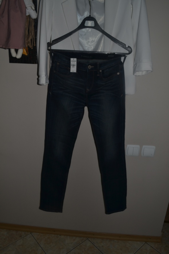 Express Jeans Nowe z metką skinny Mid Rise 0R
