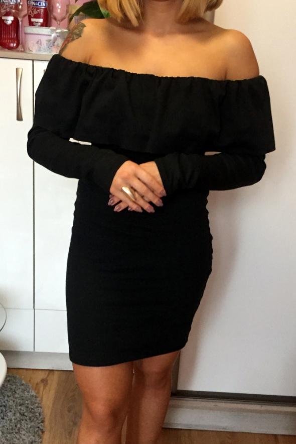 27637cc642c676 Sukienka CZARNA Hiszpanka z falbanka długi rękaw w Suknie i sukienki ...