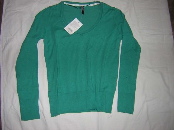 Bluzka sweterkowa turkusowa