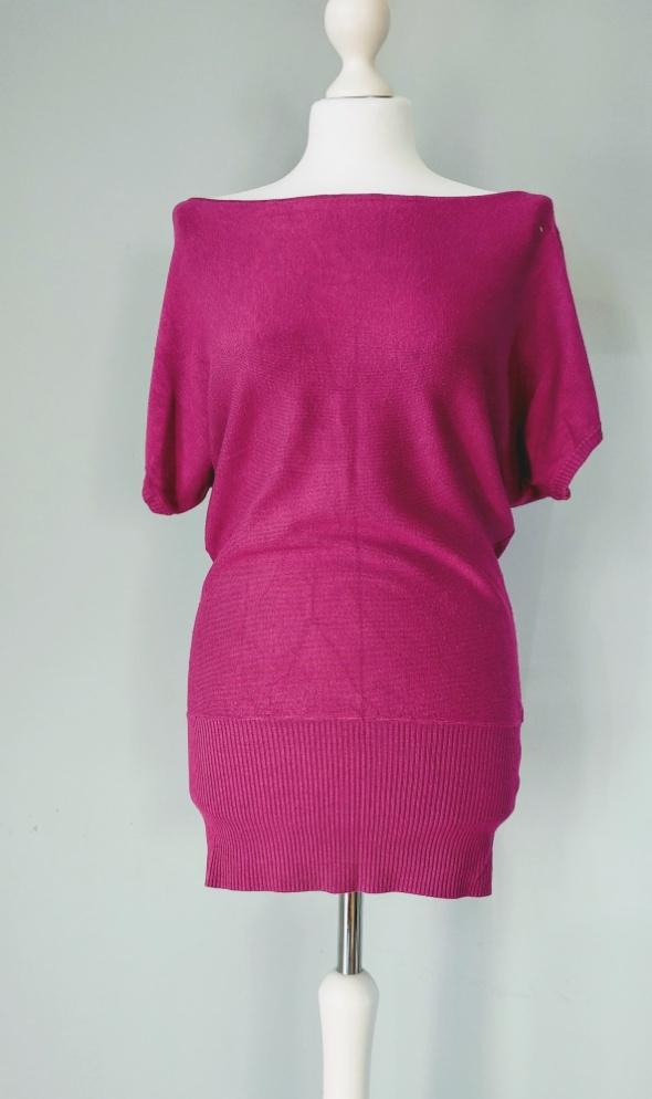 Sukienka sweterek fuksja oversize