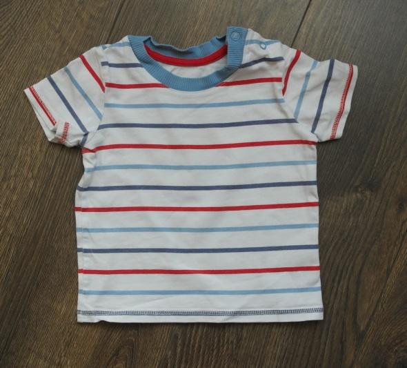 Bluzeczka biała w kolorowe paseczki 86