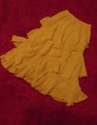 Falbaniasta żółta spódnica midi 36 38 40...