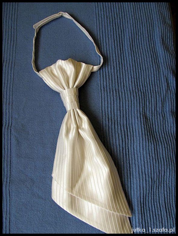 Musznik krawat w kolorze Ecru