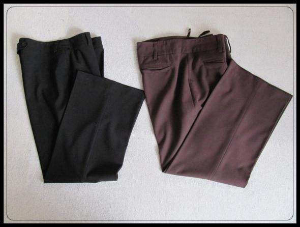 spodnie eleganckie kant czarne i brązowe L i XL