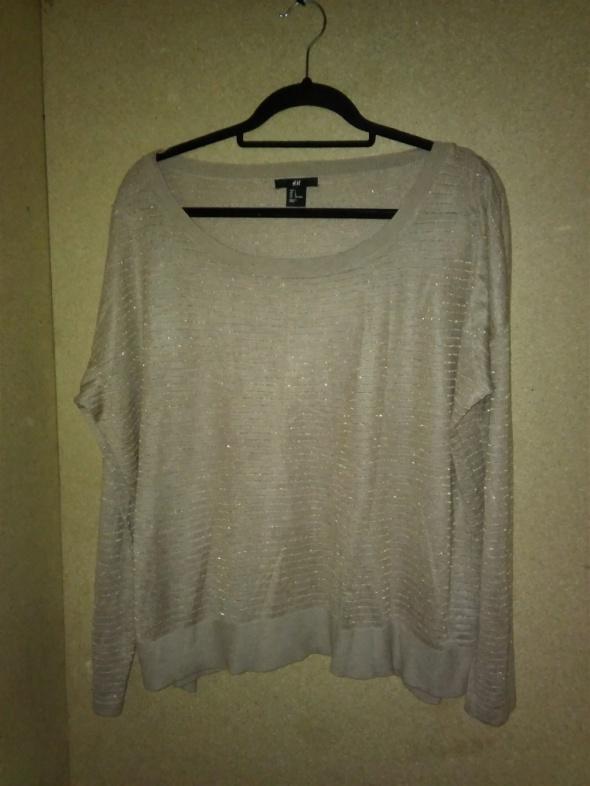 H&M Beżowy cienki sweterek oversize 40