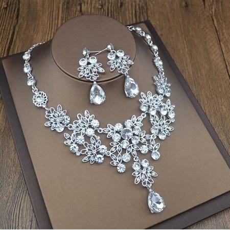 Biżuteria ślubna komplet cyrkonia najpiękniejszy