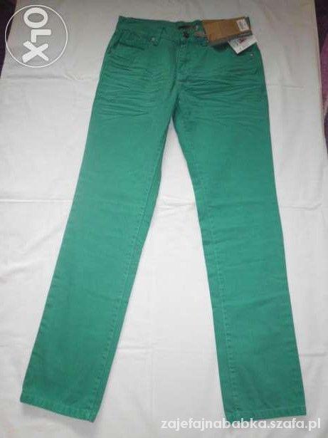 Nowe męskie zielone spodnie