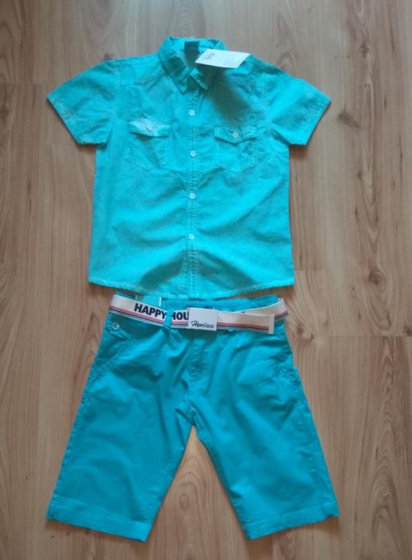Nowy komplet chłopięcy koszula i krótkie spodnki 1