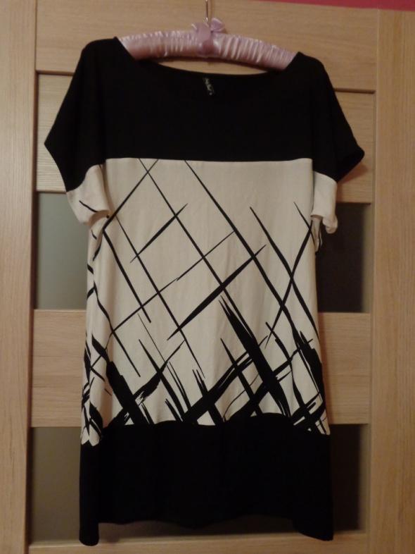 Czarno biała tunika