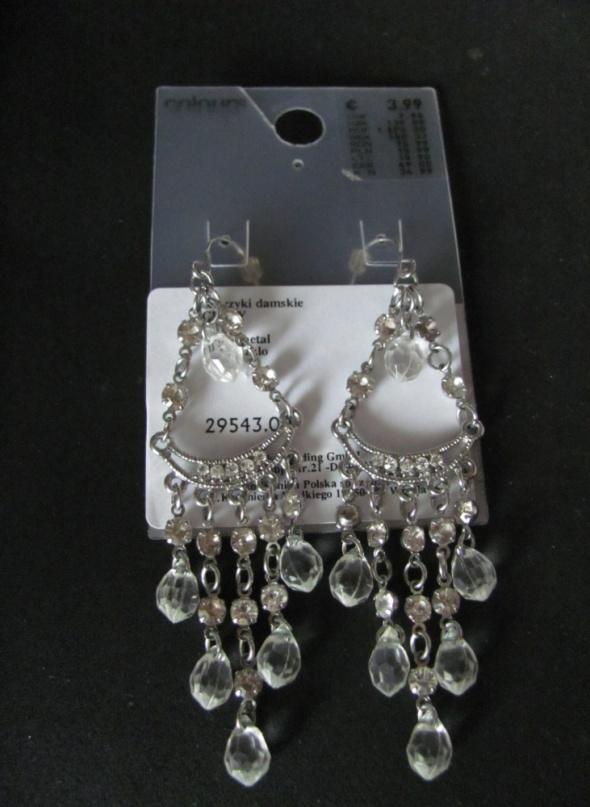 Kolczyki koronkowe diamenty srebrne ślubne...