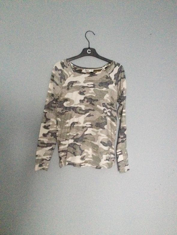 prosta bluzka moro z długim rękawem bawełna xs s...