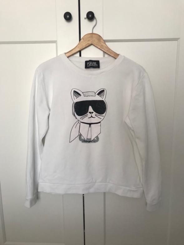 Biała bluza Karl Lagerfeld Iconic L...