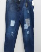 Nowe cudne jeansy z łatami...