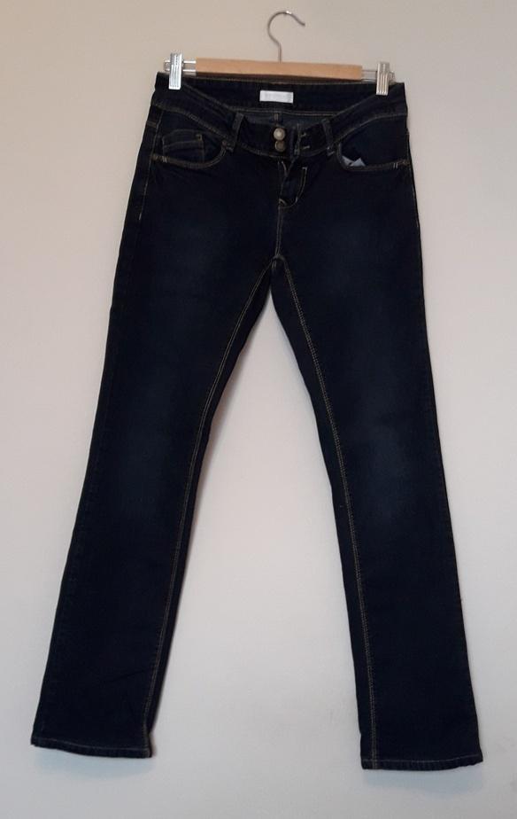 Spodnie Promod Jeansy klasyczne granatowe bez przetarć jak nowe