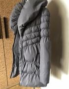 ciepły pikowany płaszcz z kołnierzem