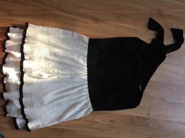 Suknie i sukienki Retro sukienka na jedno ramie