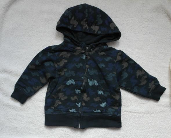 Bluza granat w ciapki 74 80