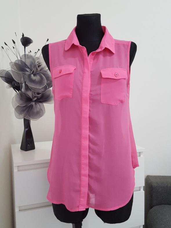 rózowa bluzka mgiełka z kieszonkami Cotton On