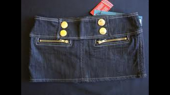 jeansowa mini ala doda
