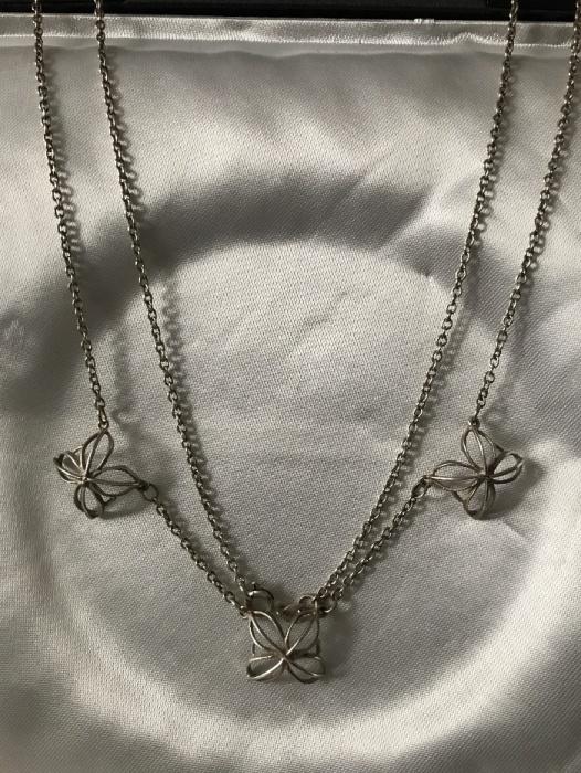 Warmet srebrny delikatny unikatowy naszyjnik 925 trzcinka