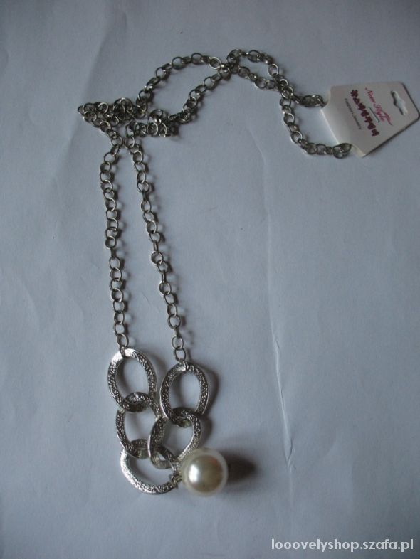 Nowy naszyjnik srebrny perła wysyłka 0 zł