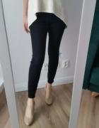 Czarne klasyczne spodnie rurki Asos 2832 S bawelniane...